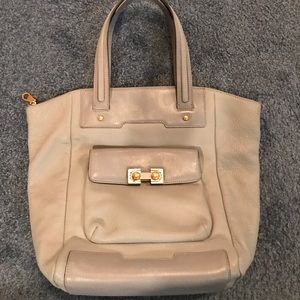 Marc Jacobs gray leather tote EUC